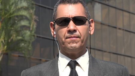 Bodyguard Or Security Officer Stock Photo