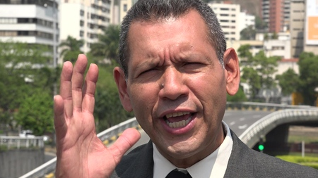 Upset Hispanic Business Man Complaining