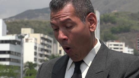 Confused Surprised Or Startled Business Man