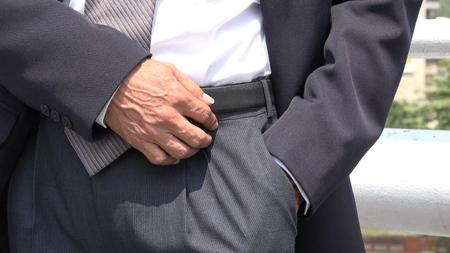Business Man Checking Pockets Stok Fotoğraf