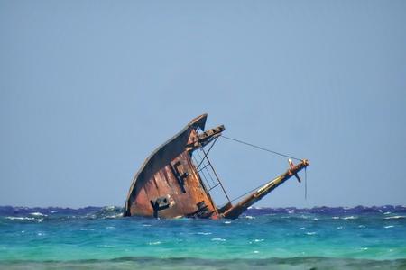 Boat Hull Of Shipwreck Stock Photo