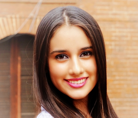 Happy Smiling Teen Girl Pe Stock Photo