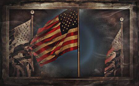 미국 국기 또는 미국의 국기 스톡 콘텐츠