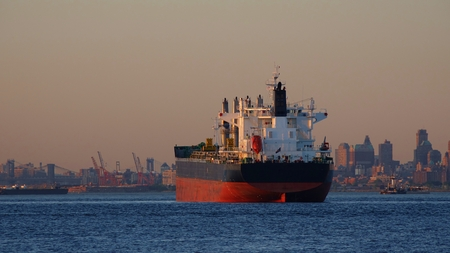 Cargo Ship And Water