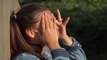 Confused People Teen Girl Stock Photo