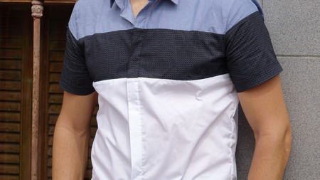 남성 몸통 캐주얼 셔츠