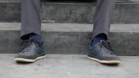 Shoes Of Man On Steps