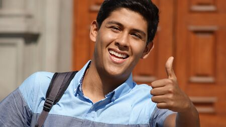 Male Student Thumbs Up