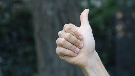 Hand Thumbs Up Stok Fotoğraf