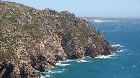海岸沿いの崖 写真素材