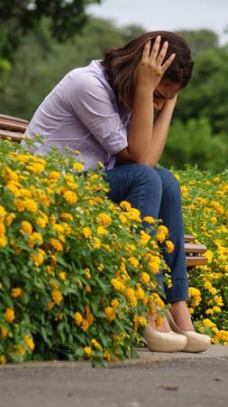 Stress Angst Einsamkeit
