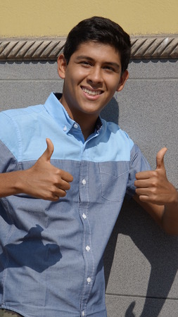 Thumbs Up And Success Stock Photo