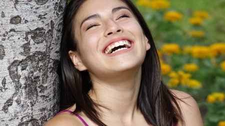 People Laughing Stock Photo