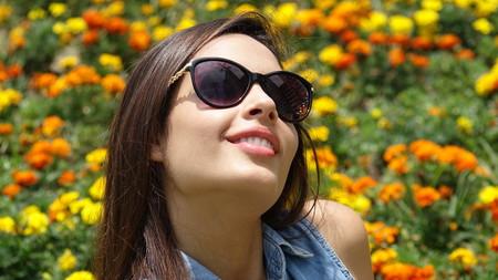 Happy Teen Girl In Meadow