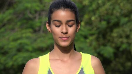 Female Meditating