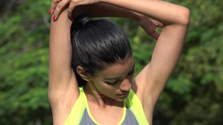 Hispanic Teen Female Stretching