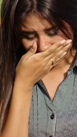 tearful: Tearful Teen Stock Photo