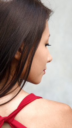 Teen Girl And Shyness Stock Photo