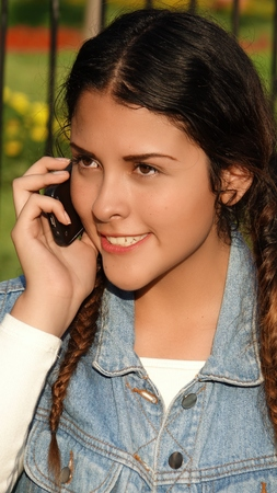 Beautiful Teen And Mobile Phone