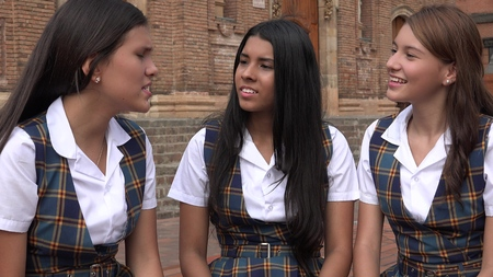 Diverse Female Students Reklamní fotografie