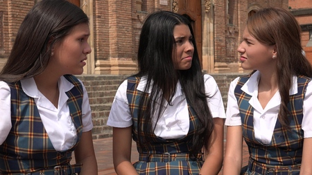 Confused Female Students