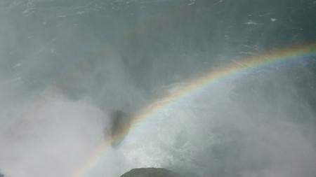 Rainbow And Water Mist