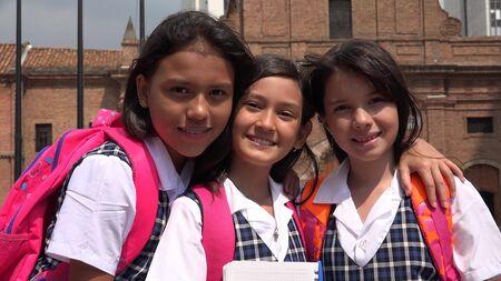 School Kids Wearing School Uniforms