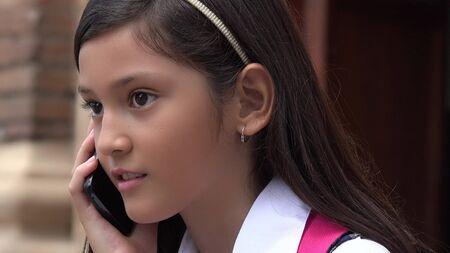 Female Talking On Phone Stock fotó