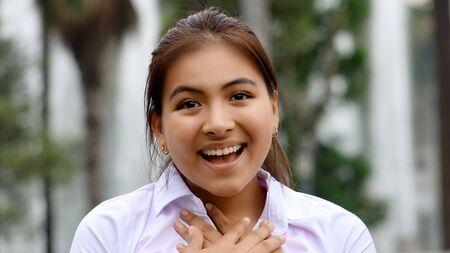 Youthful Peruvian Female In Love