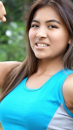Fitness Minority Female Stock Photo