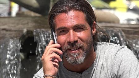 Male Talking On Phone Stock fotó