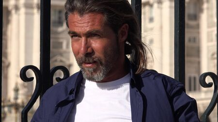 A European Adult Male 版權商用圖片