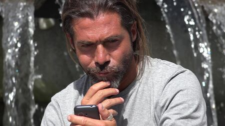 Male Talking On Phone Reklamní fotografie