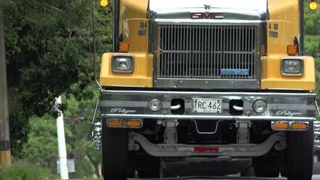 Truck Radiator Bumper And Headlight Editorial