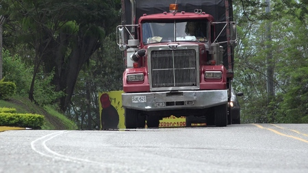 Tractor Trailer Cargo Truck And Shipping