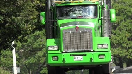 Green Truck Tractor Trailer