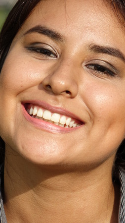 Smiling Face Of Peruvian Person