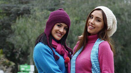 Friends Females Wearing Sweaters