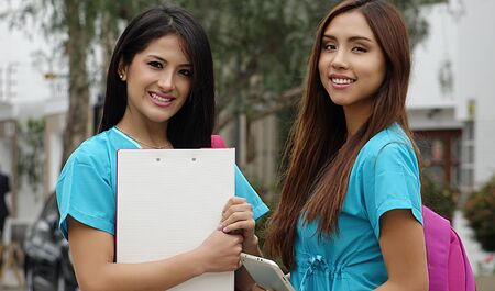 Young Female Nurses Or Medical Students