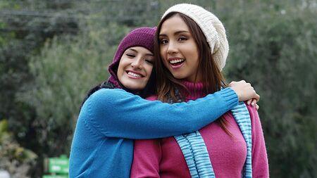 Friends Women Hugging
