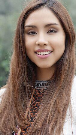 Happy Smiling Peruvian Woman