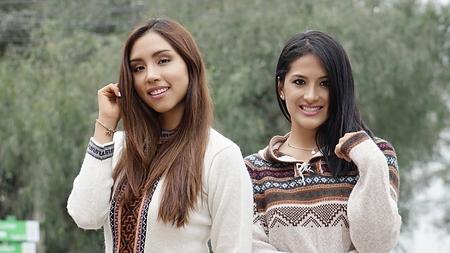 Happy Latina Women Stock Photo