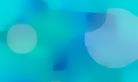 Turquoise Blue Circles Abstract Painting
