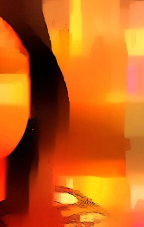Red Yellow Brown Abstract Artwork Stock Photo