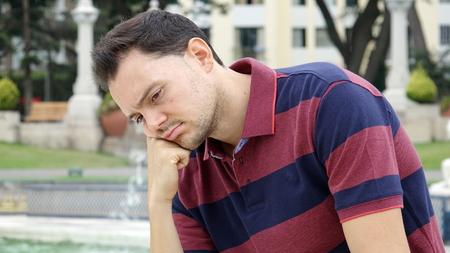 Unshaven Male Thinking Banco de Imagens - 88793772