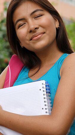 女性の学生 写真素材