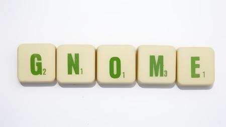 Word Gnome isoleren op wit