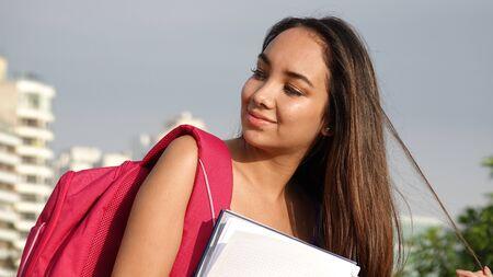 女子学生 写真素材