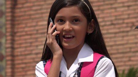 Female Talking On Phone Reklamní fotografie