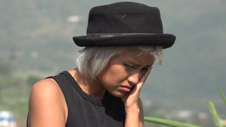 Sickness Worry Among Women Stock Photo
